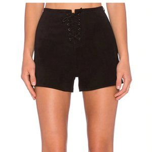 AG Adriano Goldschmied x Alexa Chung Suede Shorts